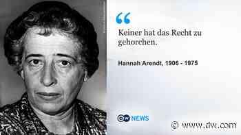 Warum Hannah Arendt uns heute noch inspiriert - DW (Deutsch)