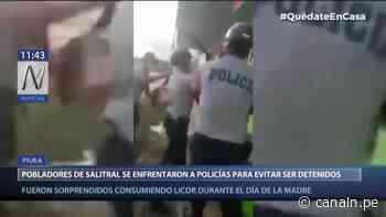 Piura: Pobladores de Salitral se enfrentaron a policías para no ser detenidos - Canal N