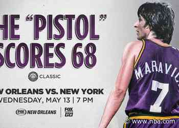 Fox Sports New Orleans to re-air New Orleans Jazz legend Pete Maravich's 68-point performance against the New York Knicks