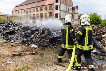 Rauchwolke in Radeberg: Feuerwehr muss riesigen Holzhaufen löschen - TAG24