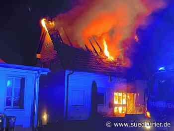 Engen: Feuerwehreinsatz im Engener Stadtteil Bargen: Wohnhaus brennt völlig aus - SÜDKURIER Online