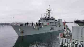 Crews of HMCS Shawinigan and HMCS Glace Bay bid farewell, deploy to Africa - Globalnews.ca