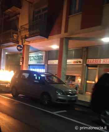 Ospitaletto: auto in fiamme in via Vittorio Veneto - Brescia Settegiorni