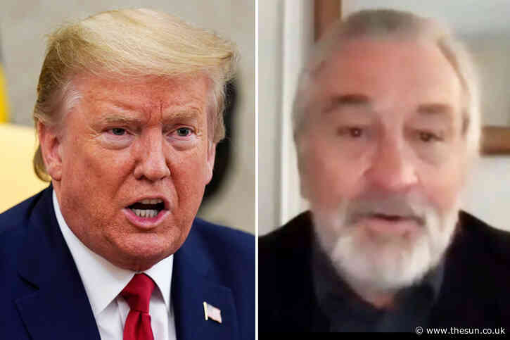 Trump-hater Robert De Niro rants about 'lunatic' President who 'doesn't care' how many people die from coronavirus