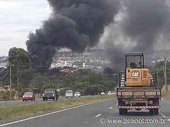 Incêndio atinge área de reciclagem às margens da rodovia Piracicaba – Charqueada - PIRANOT