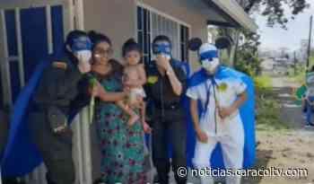 Los 'héroes en casa' que celebraron el día de los niños y rindieron homenaje a los médicos - Noticias Caracol