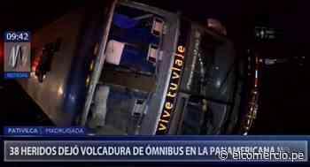 Pativilca: 38 heridos por volcadura de bus interprovincial en Panamericana Norte - El Comercio