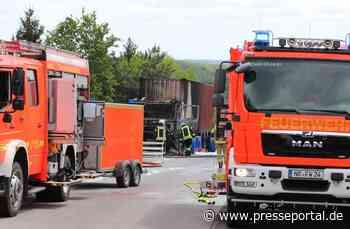 FW Asbach: LKW Brand auf der A3 - Presseportal.de