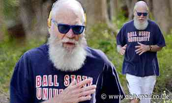 David Letterman reps alma mater Ball State for jog through country in Upstate NY during quarantine - Daily Mail