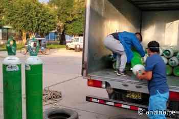 ¡Buena noticia! Empiezan a llegar los tanques de oxígeno a Chepén - Agencia Andina