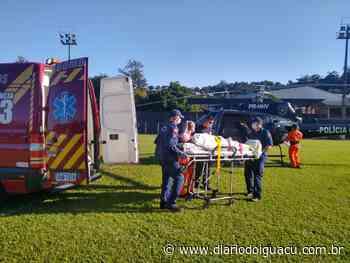 Vítima de infarto é transferida de helicóptero de Palmitos a Xanxerê - Portal DI Online