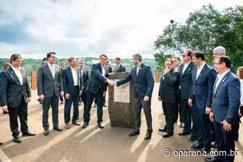 Lançamento da pedra fundamental da nova ponte entre Brasil e Paraguai completa um ano - O Paraná