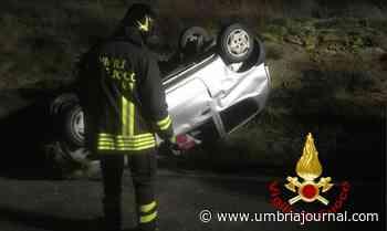 Incidente e incendio nella notte a Ponte Felcino e Solomeo, un ferito - Umbria Journal il sito degli umbri