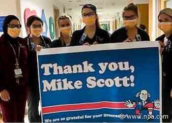 Mike Scott Gives Back to CHOP Overnight Staff
