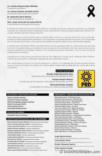 Repudia el FADG asesinato del síndico de Tixtla y demanda a las autoridades esclarecer el crimen y aprehender a los culpables - todochicoloapan.com