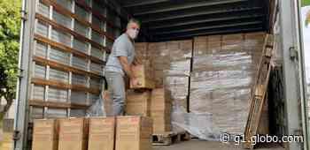 Coronavírus: Vinhedo inicia distribuição de 10,3 mil cestas básicas para alunos da rede municipal - G1