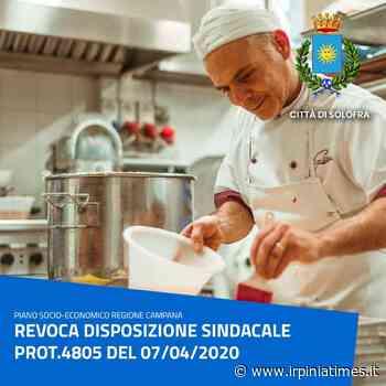 Solofra, revoca disposizione sindacale per il divieto di vendita di prodotti di Pasticceria fresca - https://www.irpiniatimes.it
