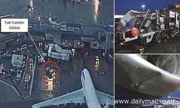 British Airways plane carrying 328 passengers collided with refuelling vehicle at Heathrow T3 - Daily Mail