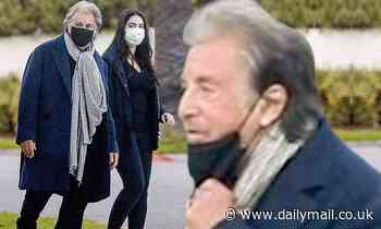 Al Pacino dons a mask as he takes a walk around Beverly Hills neighborhood with female companion - Daily Mail