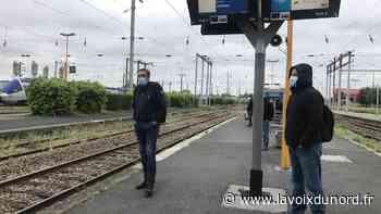 Aulnoye-Aymeries: une poignée de voyageurs masqués dans le premier train vers Lille - La Voix du Nord
