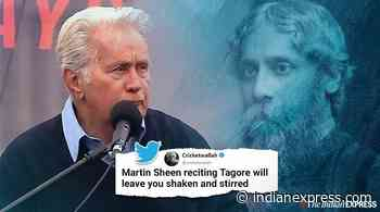 Watch: Actor Martin Sheen recites Rabindranath Tagore's poem at US protest - The Indian Express