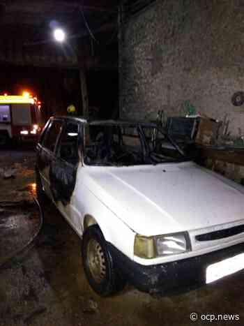 Veículo é atingido por incêndio na madrugada desta quarta-feira em Turvo - OCP News