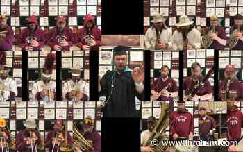 Fergus Falls band director honors students with one-man-band 'Pomp and Circumstance' performance - INFORUM