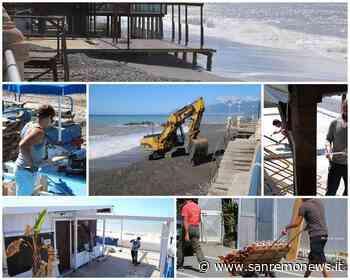 Bordighera: al lavoro per sistemare le spiagge ma alcuni dovranno lasciare a casa dei dipendenti (Foto) - SanremoNews.it