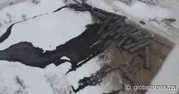 New drone video, photos show extent of oil spill in St. Lazare - Globalnews.ca