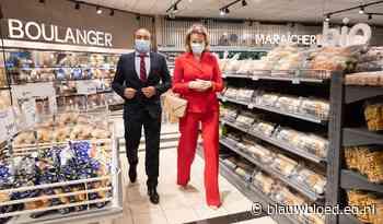 Koningin Mathilde naar de supermarkt met mondkapje - Blauw Bloed