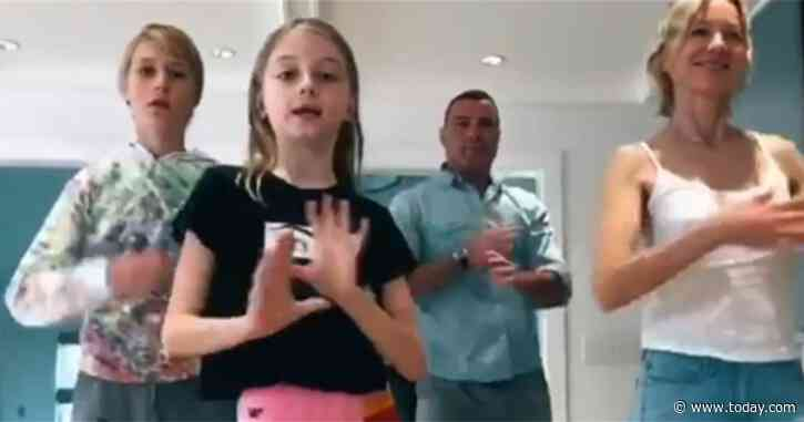 Naomi Watts, Liev Schreiber share a dance with their kids in quarantine - TODAY