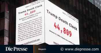 Die Trump-Uhr am Times Square und ein Eklat im Rosengarten - Die Presse