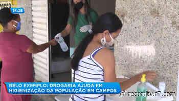 Drogaria de Campos dos Goytacazes (RJ) instala pia para higienização das mãos durante pandemia - R7