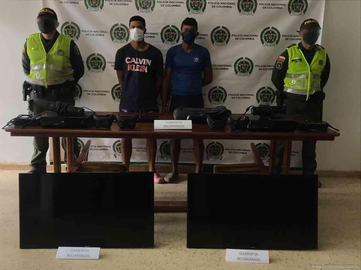 Capturan a dos por hurto de elemento en un colegio de Guamal - El Informador - Santa Marta