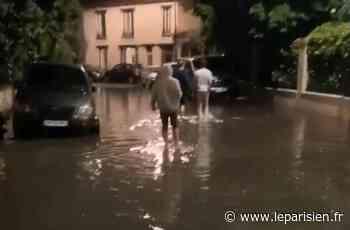L'orage fait déborder les plaques d'égout de Maisons-Alfort, les riverains excédés - Le Parisien