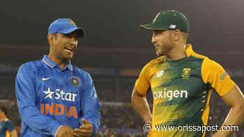 Mahendra Singh Dhoni's gut feeling is his biggest strength: Faf Du Plessis - OrissaPOST