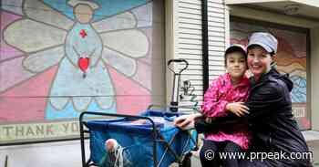 Chalk murals brighten spirits, garage doors in Port Moody neighbourhood - Powell River Peak