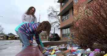 Colourful Bowmanville Hospital rock garden inspiring health-care workers during coronavirus pandemic - Globalnews.ca