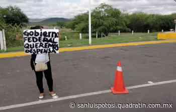 Habitantes de Cerritos exigen apoyo de Gobierno Federal - Noticias de San Luis Potosí - Quadratín San Luis