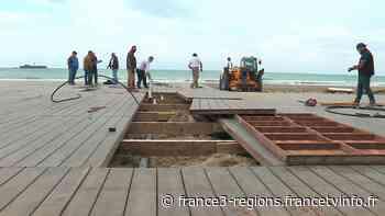 Déconfinement : à Agde, les travaux d'installation des paillotes et des restaurants de plage reprennent - France 3 Régions