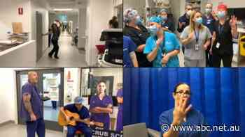 Nurses and doctors sing Bruno Mars hit Count On Me amid coronavirus pandemic - ABC News