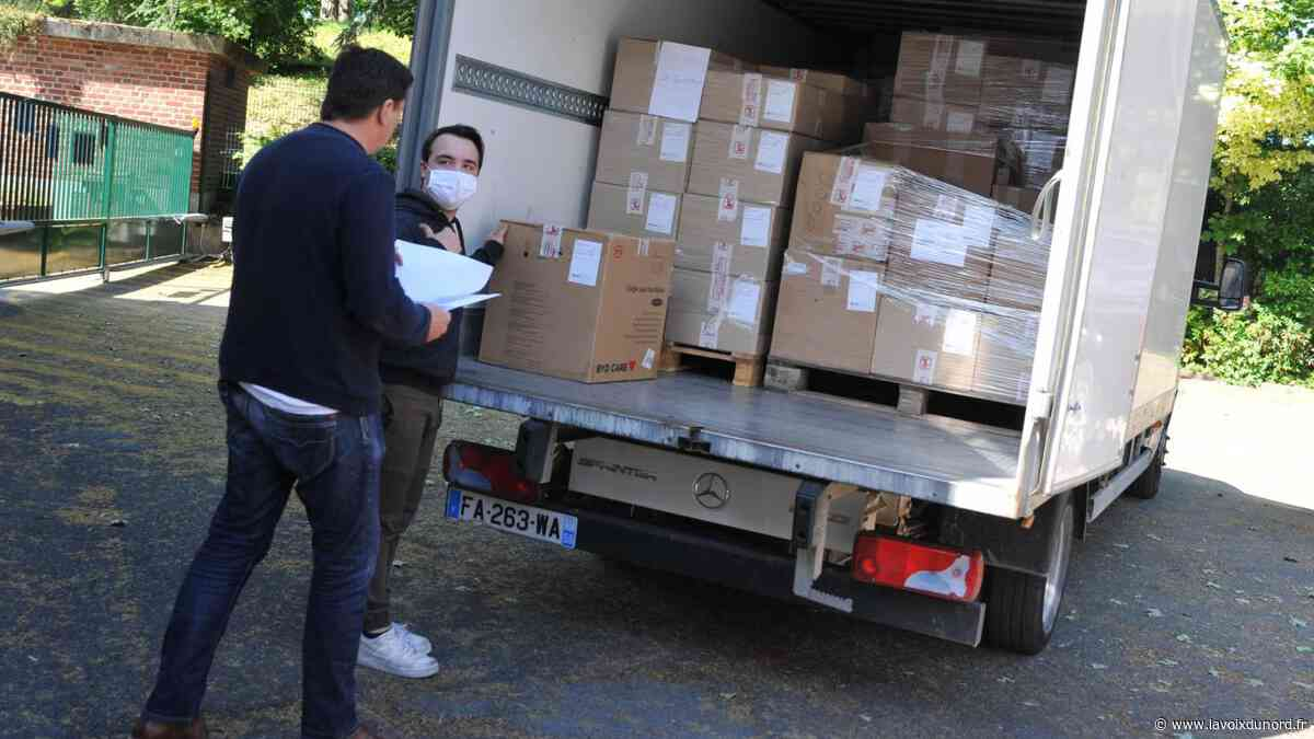 Le Quesnoy : les masques en tissu de la région sont arrivés cet après-midi au siège de la CCPM - La Voix du Nord