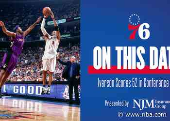 On This Date | Iverson Scores 52 in Conference Semis