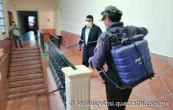 Sanitizan oficinas del Ayuntamiento en Ciudad Valles - Noticias de San Luis Potosí - Quadratín San Luis