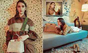 Jude Law's 19-year-old daughter Iris models in Fendi campaign - Daily Mail