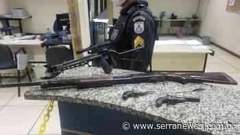 PM apreende armas em sítio na zona rural de Cantagalo - Serra News