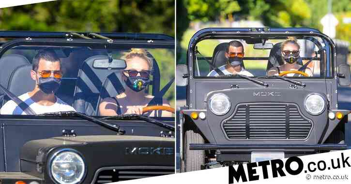 Joe Jonas and Sophie Turner don face masks to take new car for a spin - Metro.co.uk
