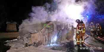 Leisnitz - Kleintransporter brennt in Freital aus - Dresdner Neueste Nachrichten