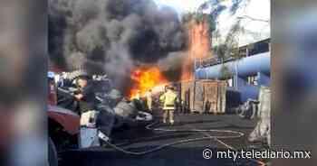 Incendio en llantera provoca movilización en el municipio de Abasolo - Telediario Monterrey