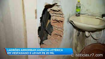 Ladrões arrombam lotérica e levam R$ 20 mil em Vespasiano (MG) - R7